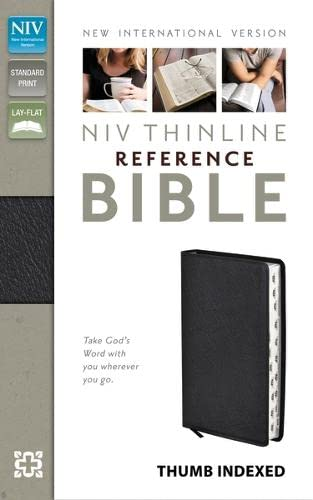 NIV Thinline Reference Bible Indexed, Black Bonded Leather: New International Version