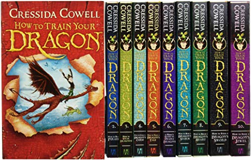 How To Train Your Dragon Collection - 10 Books set - Cressida Cowell