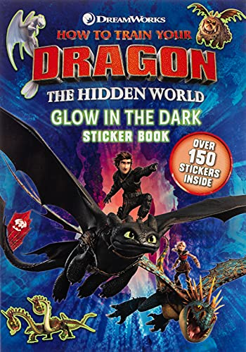 9781444946925: How to Train Your Dragon The Hidden World: Glow in the Dark Sticker Book