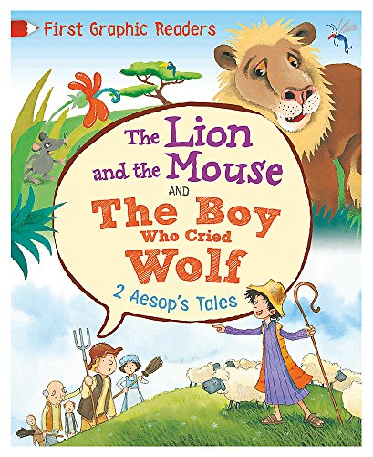Aesop: The Lion and the Mouse & the Boy Who Cried Wolf (First Graphic Readers) (Hardcover)