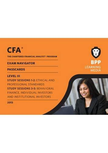 9781445363196: CFA Navigator - Passcards Level 3