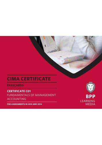 9781445364803: CIMA - Fundamentals of Management Accounting: Certificate paper C01: Passcards