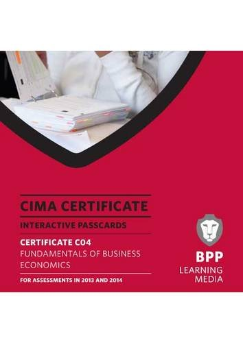 9781445365350: CIMA - Fundamentals of Business Economics: Interactive Passcards