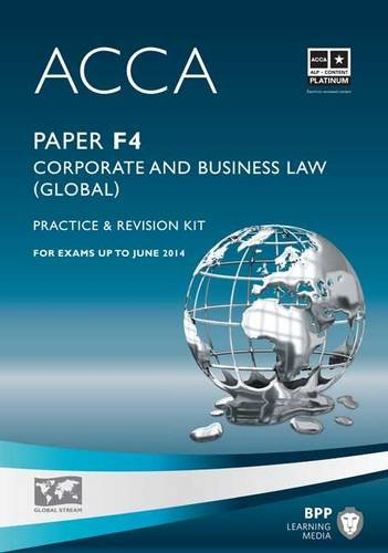 9781445366449: ACCA - F4 Corporate and Business Law (Global): Revision Kit