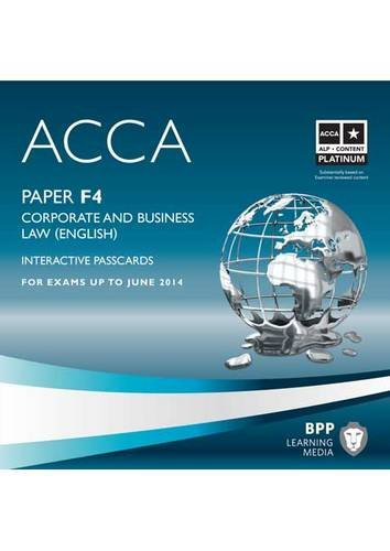 9781445366593: ACCA - F4 Corporate and Business Law (English): Interactive Passcard