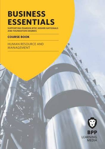 9781445368368: Business Essentials Human Resource and Management: Study Text