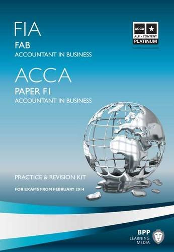 9781445370330: FIA Foundations of Accountant in Business FAB (ACCA F1): Revision Kit