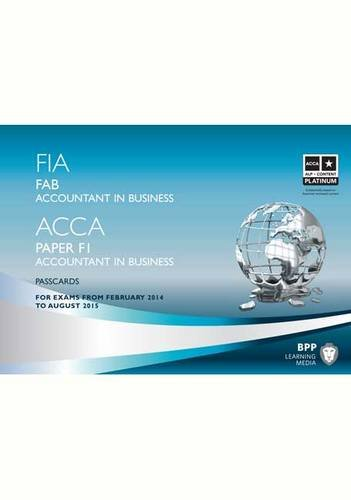 9781445370408: FIA Foundations of Accountant in Business FAB (ACCA F1): Passcards