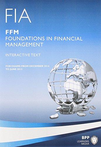 9781445372440: FIA Foundations in Financial Management FFM: FFM: Interactive Text