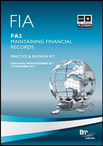 9781445373096: Fia - Maintaining Financial Records Fa2: Revision Kit