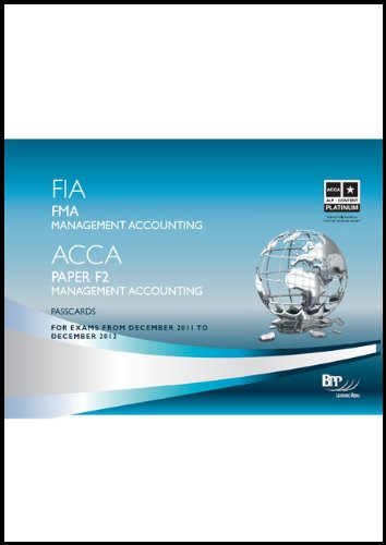 9781445373201: FIA - Foundations in Management Accounting FMA (Passcards)
