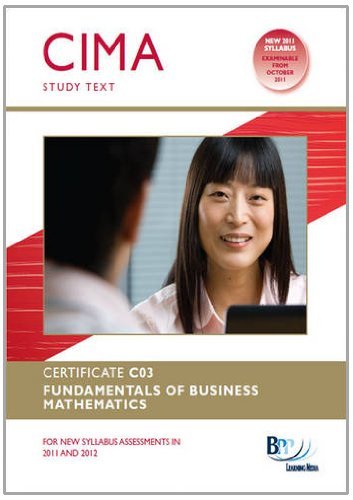 9781445377780: Cima - Fundamentals of Business Mathematics: Study Text