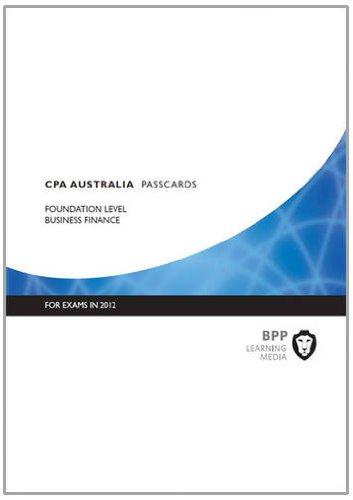 9781445377926: CPA Australia - Business Finance: Passcards