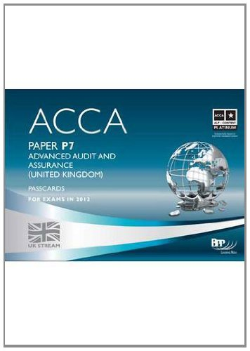 9781445387406: Acca - P7 Advanced Audit and Assurance (UK): Passcard