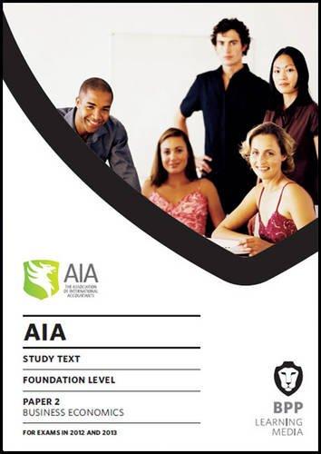9781445389035: AIA - 2 Business Economics: Study Text