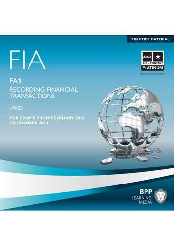 9781445394367: FIA - Recording Financial Transactions - FA1: iPass