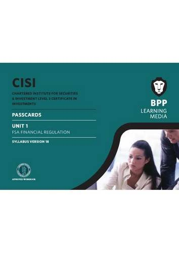CISI Certificate Unit 1 Passcards Syllabus Version 18 (Paperback): BPP Learning Media