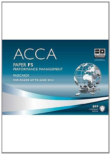 9781445396637: ACCA F5 Performance Management ACCA - F5 Performance Management: Paper F5 Paper F5
