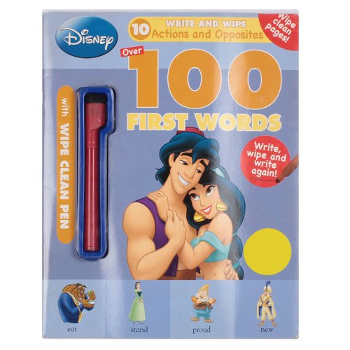 Disney 100 First Words (10 Write and Wipe Actions and Opposites): Parragon Publishing India