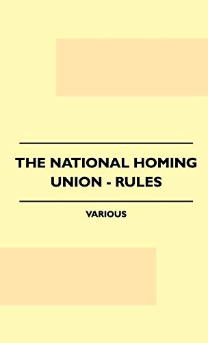 The National Homing Union - Rules