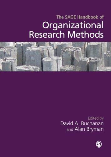 9781446200643: The SAGE Handbook of Organizational Research Methods