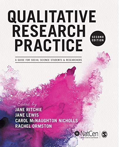 Qualitative Research Practice: Jane Ritchie; Jane