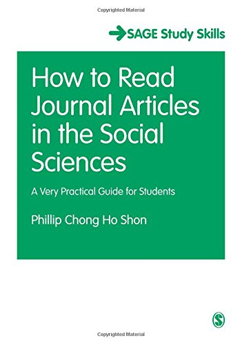 9781446209325: How to Read Journal Articles in the Social Sciences: A Very Practical Guide for Students (SAGE Study Skills Series)