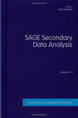 Sage Secondary Data Analysis Four-Volume Set (Series: Sage Library Of Research Methods): Goodwin,J.