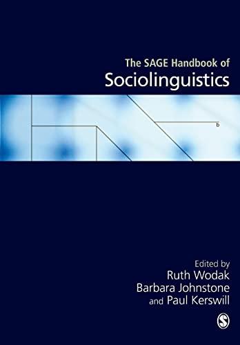 9781446270592: The SAGE Handbook of Sociolinguistics