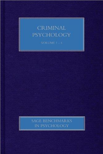 9781446286067: Criminal Psychology (SAGE Benchmarks in Psychology)