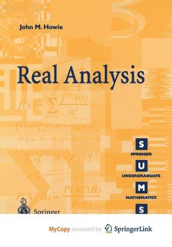 9781447103424: Real Analysis