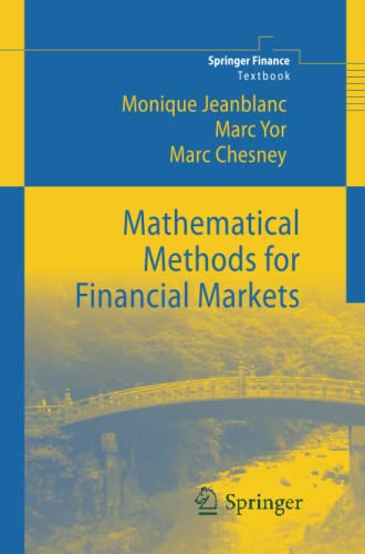 9781447125242: Mathematical Methods for Financial Markets (Springer Finance / Springer Finance Textbooks)