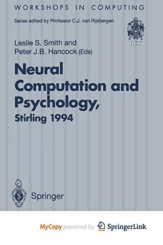 9781447135807: Neural Computation and Psychology: Proceedings of the 3rd Neural Computation and Psychology Workshop (NCPW3), Stirling, Scotland, 31 August - 2 September 1994