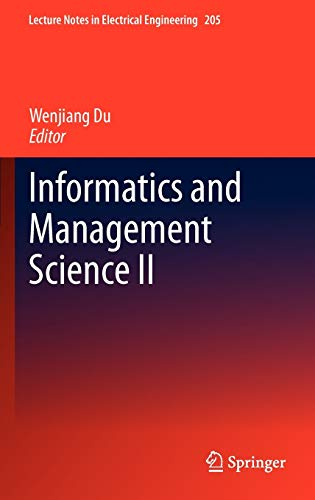 9781447148104: Informatics and Management Science II (Lecture Notes in Electrical Engineering)