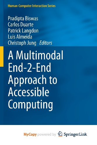 9781447150831: A Multimodal End-2-End Approach to Accessible Computing
