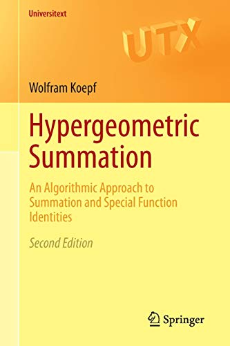 Hypergeometric Summation: An Algorithmic Approach to Summation and Special Function Identities (...