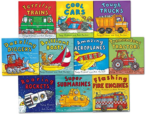 9781447238744: Amazing Machines Truckload Children Collection Tony Mitton 10 Books Set (TERRIFIC TRAINS, TREMENDOUS TRACTORS, TOUGH TRUCKS, DAZZLING DIGGERS, SUPER SUBMARINES, BRILLIANT BOATS, ROARING ROCKETS, COOL CARS, FLASHING FIRE ENGINES, AMAZING AEROPLANES)