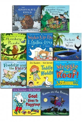 9781447261346: Julia Donaldson X 10 Book Collection Set (The Gruffalos Child, The Snail and the Whale, Room On the Broom and More)