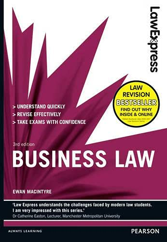 9781447900733: Business Law: Uk Edition (Law Express)