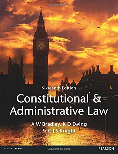 9781447904212: Constitutional and Administrative Law