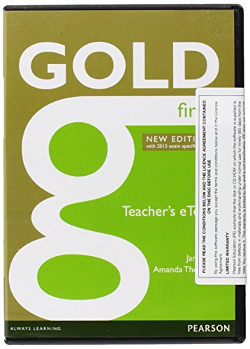 9781447907121: Gold First New Edition eText Teacher CD-ROM