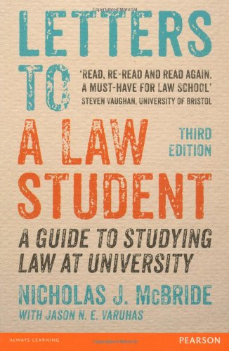 9781447922650: Letters to a Law Student: A Guide to Studying Law at University