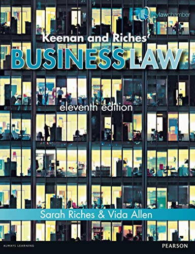 Keenan and Riches' Business Law: Allen, Ms Vida