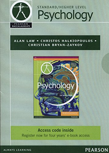 9781447938538: Pearson Baccalaureate Psychology ebook only edition for the IB Diploma (Pearson International Baccalaureate Diploma: International Editions)