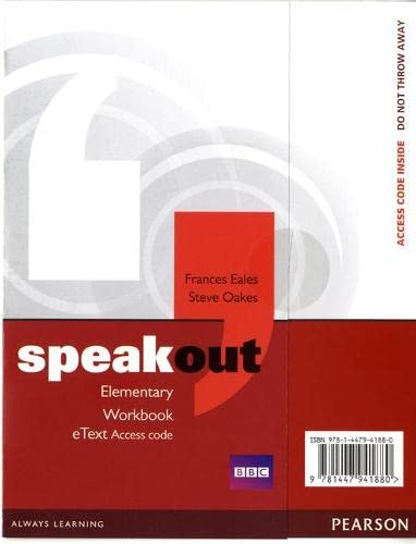 9781447941880: Speakout Elementary Workbook eText Access Card