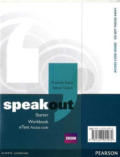 9781447941972: Speakout Starter Workbook eText Access Card