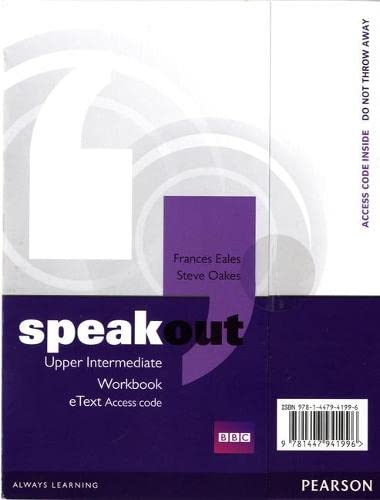 9781447941996: Speakout Upper Intermediate Workbook eText Access Card