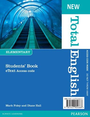 9781447954668: New Total English Elementary Etext Students' Book Access Card