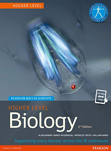 Pearson Baccalaureate Biology Higher Level 2nd Edition Print And Ebook Bundle For The Ib Diploma 2 ...