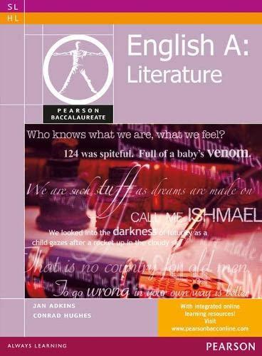Pearson Baccalaureate English A: Literature print and: Jan Adkins, Conrad